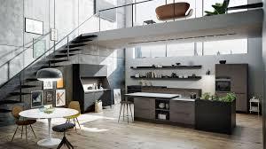 SieMatic URBAN Moderne offene Wohnküche mit großer Kochinsel im