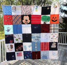 Hand Made Baby Clothes Memory Blanket - Chenille Back by Maiden ... & Custom Made Baby Clothes Memory Blanket - Chenille Back Adamdwight.com
