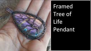 Wire Wrap Dream Catcher Tutorial Framed Tree Of Life Cabochon Pendant Wire Wrap Tutorial YouTube 38