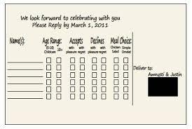 Response Cards Size Multiple Rsvp Cards Per Envelope