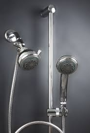 dual mariner shower heads with slide bar mariner 2 combination shower head system