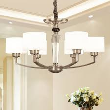 6 light modern contemporary living room dinning room bedroom chandelier with glass shade