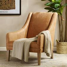norse leather accent chair