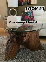 ROOT Stump Coffee Table Or End Table.