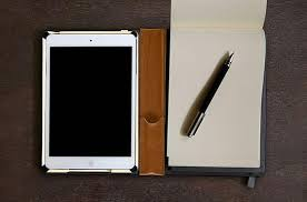 iPad   leather portfolio case with stand and notepad for iPad       Pinterest