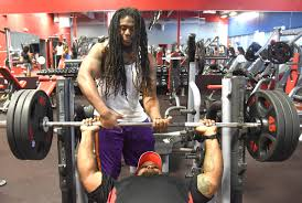 deonta kershaw standins dwayne wilson wednesday at workout anytime a gym that