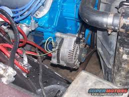 ford alternator fit any ford motor the ford torino page forum btw using this internally regulated alternator only requires two external wires cables coming from your original harness an alternator exciter wire light