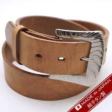 made in japan made in titanium buckle belt 40mm in width type e camel brown