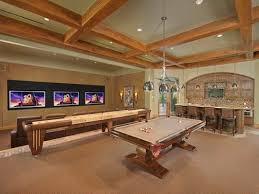 Wooden Games Room Gorgeous game room design with wooden frame ceiling Game Room 59