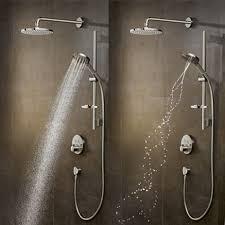 hansgrohe hand shower with powderrain
