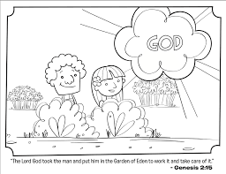 Small Picture Adam and Eve Bible Coloring Page