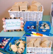 Treasure Chest Decorations Cute Activities At A Mermaid Themed Birthday Party Decorate Your