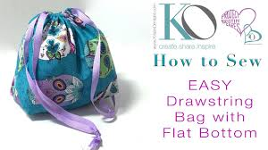 Drawstring Bag Pattern Fascinating How To Sew An EASY Drawstring Bag With Flat Bottom FREE DIY Sewing