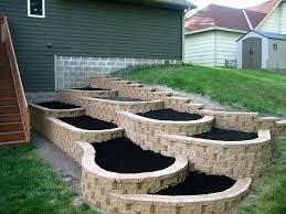 diy tiered flower bed raised