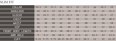 46 Regular Size Chart Size Chart