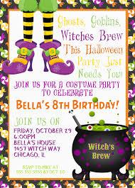 8th Birthday Party Invitations Halloween Birthday Party Invitations Party Beautifully