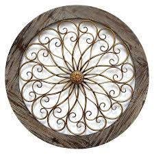 round wood wall decor round wood and copper metal wall decor in diy distressed wood wall