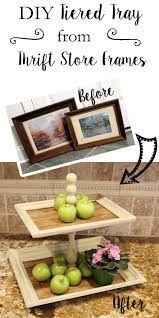 diy tiered tray from frames what treasures await