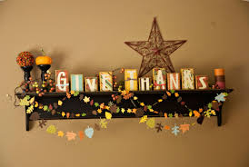 thanksgiving office decorations. 17. Wooden Blocks With Printed Papers And Paper Leave Garlands For Mantel Thanksgiving Office Decorations G