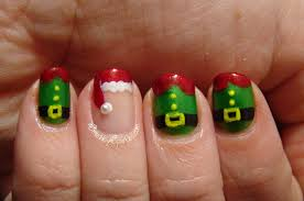Christmas Hat Nail Design Love The Santa Hat The Others Not So Much Christmas Nail