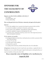 Confirmation Sponsor Letter Of Recommendation Sample Under