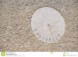 Wall Sundial Design Sundial On The Wall Stock Image Image Of House Design