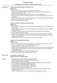 Windows Server Administrator Resume Samples Velvet Jobs