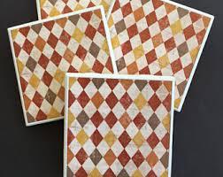 Decorative Tile Coasters Fall coasters Etsy 22