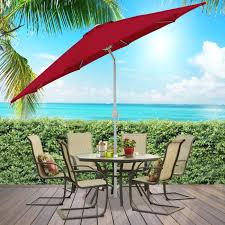 patio umbrella 9 aluminum market tilt w crank outdoor multiple colors bcp