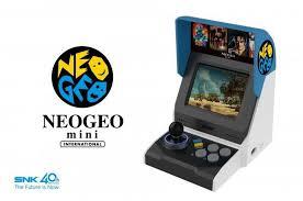 neo geo mini is a tiny arcade machine with 40