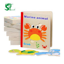 wooden toys for children 3d puzzle educational toys montessori english age kids toys wood puzzles book