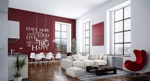 Idée Déco Salle à Manger Salon Mur Rouge