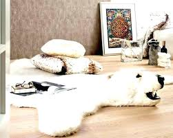 faux skin rug amazing home brilliant animal rugs in monster real polar bear with head magnificent