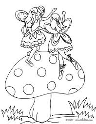 Small Picture Fairies on a mushroom coloring pages Hellokidscom
