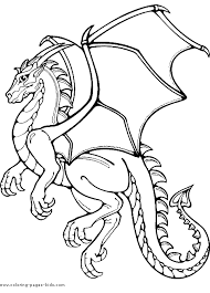 Small Picture Dragon color page Coloring pages for kids Fantasy Medieval