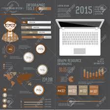 Resume Business Info Graphic Design On Dark Background Clean