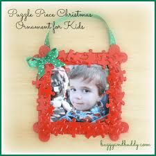 Christmas Photo Frames For Kids Homemade Christmas Ornaments Puzzle Piece Frame Buggy And