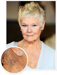 Judi Dench Wore a 007 Crystal Tattoo to the London Skyfall Premiere - 102612-judi-dench-skyfall-007-340