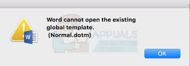 normal dotm fix word cannot open the existing global template normal dotm