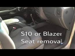 swap blazer bucket seats out for s10 60