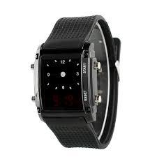 hot men silicone digital led sport calendar wrist watch green amp hot men silicone digital led sport calendar wrist