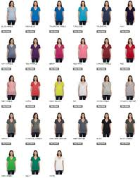 Bella Color Chart B6035 Bella Jersey Deep V Neck Tee