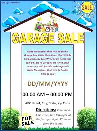 Yard Sale Flyer Template Word Printable Ad Examples