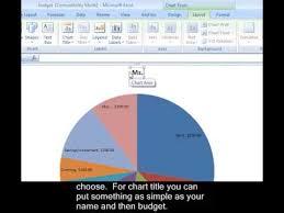 Excel 2007 Pie Chart