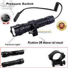 Tactical <b>5000LM</b> T6 LED <b>Hunting Flashlight</b> Picatinny Rail Mount ...