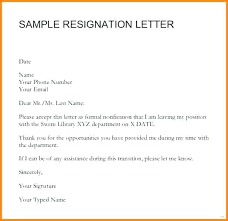 Employment Resignation Letter Sample Formal For Notice To Employer ...