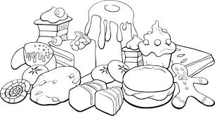 Coloring Pages Healthy Foods Sheets Colouring Food March Beautiful