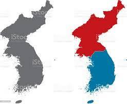 Shape Of Korean Peninsula And North Korea And South Korea Stock  Illustration - Download Image Now - iStock