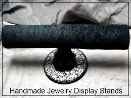 How To Make Jewelry Stands And Displays Mesmerizing □ How To Make Jewelry Holders □ Fabric TBar Display Stand