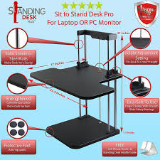 standing desk hub sit stand desk converter adjule to any height pro uplift computer workstations for home and office use plus limited offer desktop
